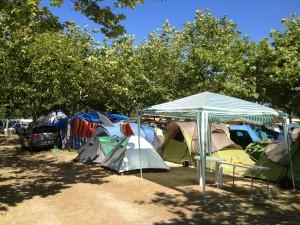 Zona acampada Camping Playa Paisaxe O Grove