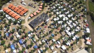 Vista aérea Camping Playa Paisaxe O Grove