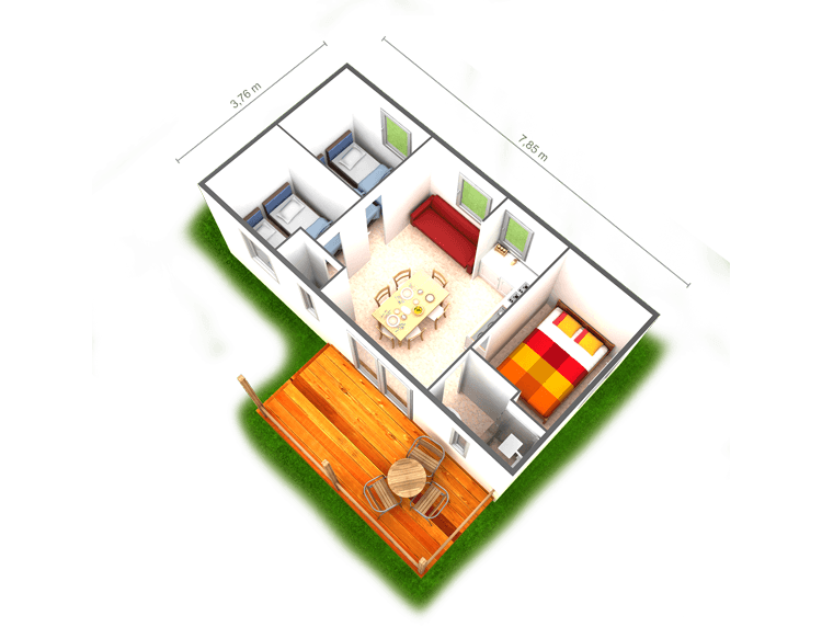 Mobil Home Bungalow