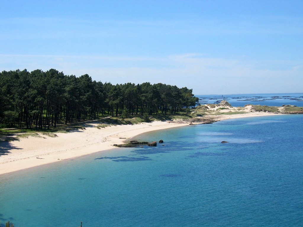 Playa Area da Secada en la Illa de Arousa