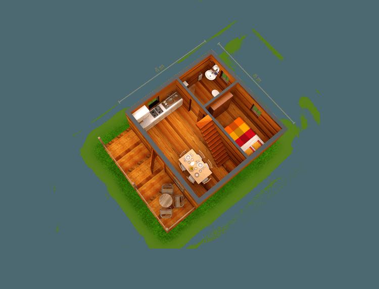 Plano de Bungalow Areoso